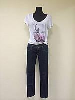 Темно-синие джинсы Dsquared зауженые