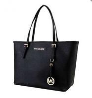 Элегантная классическая сумка для дам от michael kors, черная, очень вместительная, с красивой фурнитурой