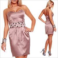 Вечернее платье коричневого цвета, короткое платье