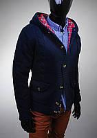 Теплая мужская кофта осень-зима-весна, теплий синий кардиган мужской