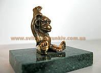 Оригинальный подарок бронзовая статуэтка обезьяны в очках
