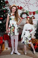 Очаровательное детское платье с бантом в стразах и болеро