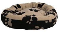 Лежак для собак Trixie Sammy черный/бежевый d 50см (37681)