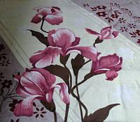 Микрофибровая простынь, покрывало Elway Цветок Ирис