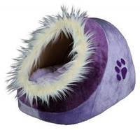 Домик для собаки Trixie Minou меховой лиловый/фиолет, синий/голубой 35*26*41см (36300/36309)