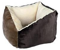 Лежак для котов Trixie Gordie 42*42см коричневый/бежевый (37704)