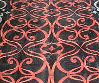 Микрофибровая простынь, покрывало Elway Красный орнамент