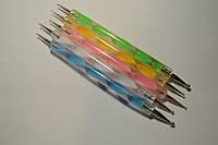Дотс для дизайна ногтей (пластик, дерево) 1 шт