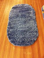 Высоковорсный пушистый ковёр First Shaggy 1000 однотонный синий