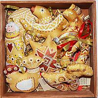 Подарочный набор ёлочных игрушек. Золотая жар-птица