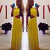 Длинное платье в пол  вырезами по бокам