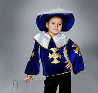 """Новогодний костюм велюровый с рубашкой """"Мушкетёр"""", размер от 3 до 8 лет, 3 цвета"""
