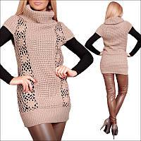 Вязаная женская кофта с узорами, свитера зимние