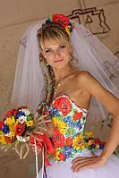 Свадебное платье в украинском стиле, фото 1