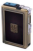 Портсигар с зажигалкой и выбросом сигарет №2720