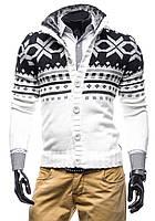 Кардиган мужской теплий ,мужской свитер с узором