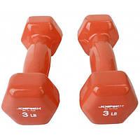 Гантели для фитнеса виниловые - 3 LB ( пара 2,7кг)