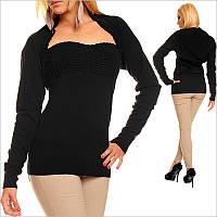 Женский черный топ с болеро, низкие цены на одежду