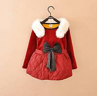 Платье теплое для девочек