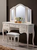 Будуарный стол + зеркало + пуф Богемия (Domini ТМ)