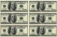 """Съедобные деньги""""100$"""" А4(код 00650)"""