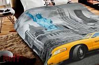 Плед флисовый Cool YELLOW TAXI Желтое такси 150х200 Нью Йорк