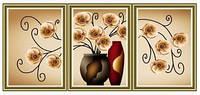 """Набор алмазной вышивки триптих Красивая ваза с цветами"""""""