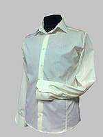 Приталенная рубашка с рельефами цвета шампанского