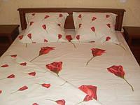 """Комплект постельного белья,миткаль,""""Бутоны роз"""""""