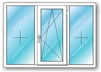 Окно металлопластиковое ALUPLAST 2.05*1.42
