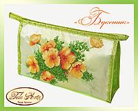 Набор для вышивки косметички бисером Букетик К-003