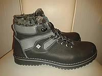Columbia Мужские ботинки зима, шнурок молния, черные