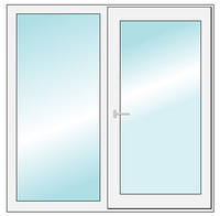 Окно металлопластиковое ALUPLAST 1.27*1.61