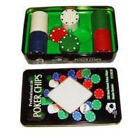 Фишки для покера с номиналом, 100 шт.
