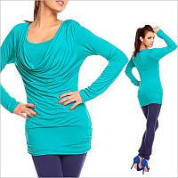 Женская кофта бирюзового цвета, купить женскую одежду по низким ценам