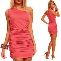 Вечернее платье кораллового цвета
