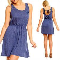 Синее легкое платье, короткие платья