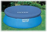 Тент чехол Intex 28020 (58939) покрывало с верхним надувным кольцом для надувных бассейнов диаметр 244см