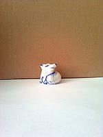 Лисичка, фарфоровая фигурка, подглазурная роспись кобальтом
