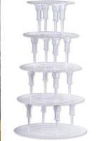 """Подставка для торта """"слоновая кость""""5 ярусов(код 00262)"""