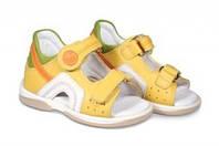 Босоножки детские. Ортопедическая обувь MEMO, модель SAPPHIRE, желтые (22-26)