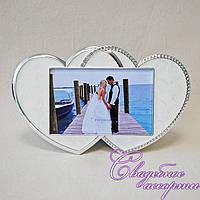 """Свадебная фоторамка """"Два сердца"""""""