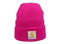 Малиновая шапка Carhartt