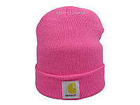 Розовая шапка Carhartt