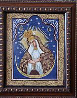 Икона «Остробрамская» ручной работы вышитая крестом