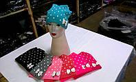 Женские, подростковые шапки стрейч на флисовой подкладке ША-6