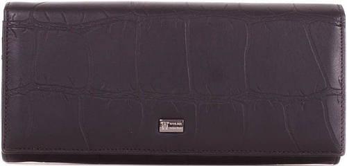Кожаный черный женский кошелекWANLIMA (ВАНЛИМА) W72042410013-black