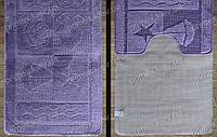 Коврики для ванной комнаты цвет-сиреневый. Ковер в ванную комнату цена Киев