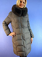 Пуховик женский, полу-пальто SNOW OWL 42 (L-4XL) DEIFY, PEERCAT, SYMONDER, COVILY, DECENTLY