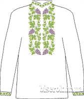 Заготовка мужской вышиванки бисером на домотканом полотне ЧСВП-4